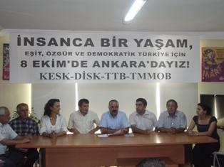 """İNSANCA BİR YAŞAM EŞİT, ÖZGÜR, DEMOKRATİK TÜRKİYE İÇİN,  8 Ekim'de """"Sokak Meclisi""""ni açıyoruz."""