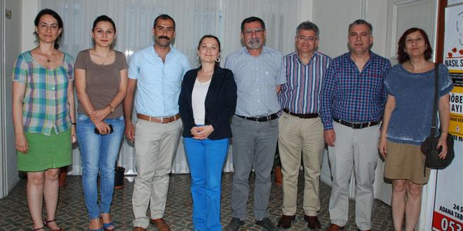 İnşaat Mühendisleri Odası Adana Şube Başkanı Nazım Biçer ve Sayman Üye Duygu Argunsah Odamıza Ziyarette Bulundu