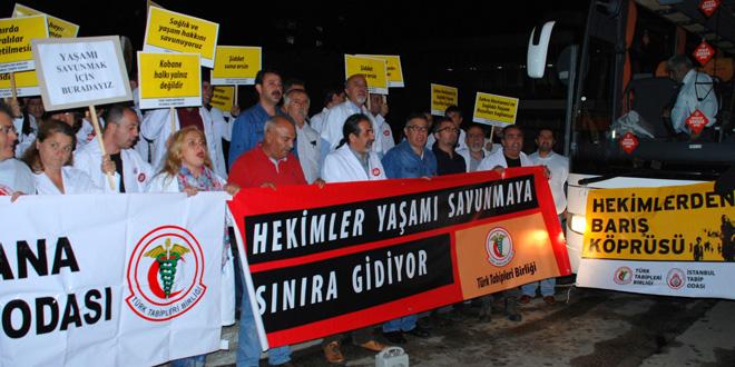 """Hekimlerden Kobani'ye """"Barış ve Sağlık Köprüsü"""""""