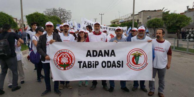 Adana Tabip Odası olarak 1 Mayıs Emek ve Dayanışma Günü'nde yerimizi aldık