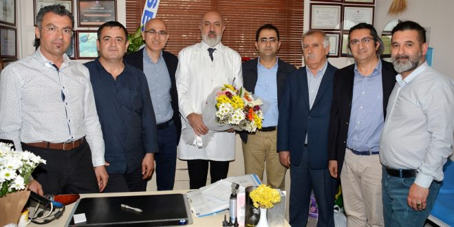 Adana Tabip Odasından TTB MK üyesi Dr.Ulutaş'a göreve dönmesi nedeni ile ziyarette bulunuldu.