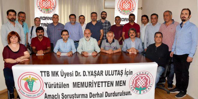Dr. D. Yaşar Ulutaş Hakkındaki Soruşturmaya Son Verilmeli