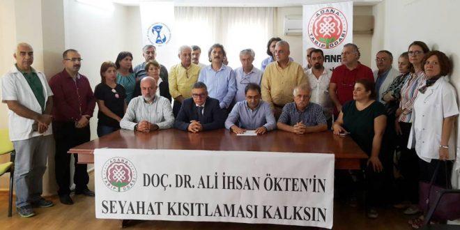 """Doç. Dr. Ali İhsan Ökten'e Yapılan Hukuksuz Uygulamayı Kabul Etmiyoruz"""""""