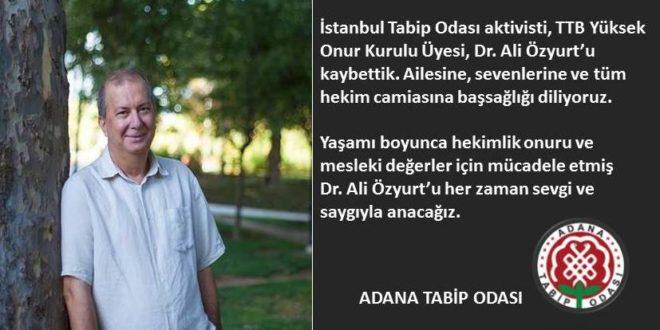 Dr. Ali Özyurt'u Kaybettik…