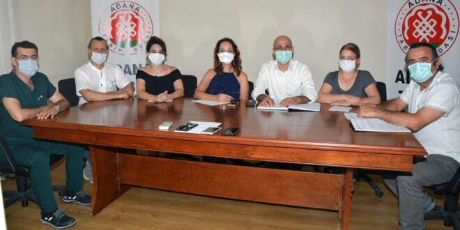 Adana Tabip Odası Yeni Yönetimi Görev Dağılımı
