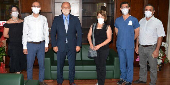 """Adana Tabip Odası Yöneticileri, Adana İl Sağlık Müdürlüğü'ne atanan Dr. Halil Nacar'a """"Hayırlı olsun"""" ziyaretinde bulundu."""