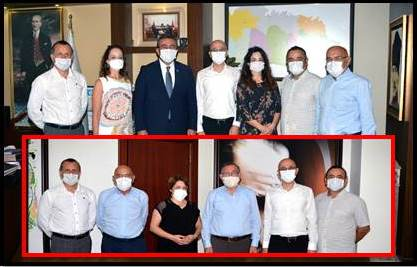 Adana Tabip Odası Yönetim Kurulu üyeleri Seyhan Belediye Başkanı Akif Kemal Akay ve Çukurova Belediye Başkanı Soner Çetin'i makamlarında ziyaret etti