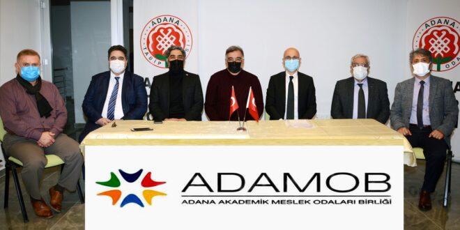Adana Akademik Meslek Odaları Birliği (ADAMOB)'un dönem sözcülüğüne Adana Tabip Odası Başkanı Uzm. Dr. Selahattin Menteş getirildi.