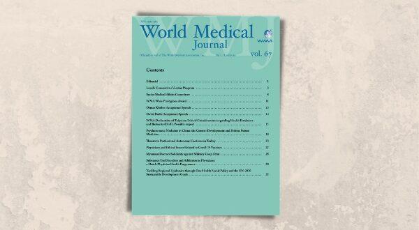 Türkiye'de Hekimlik Mesleğini Tehdit Eden Koşulları Konu Alan TTB Makalesi, WMJ Son Sayısında Yayımlandı TTB Haberler