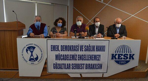 SES Yöneticilerinin Gözaltına Alınmasına Ortak Tepki: Emek, Demokrasi ve Sağlık Hakkı Mücadelemiz Engellenemez!
