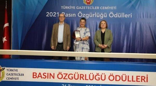 Türkiye Gazeteciler Cemiyeti'nden TTB'ye Basın Özgürlüğü Ödülü