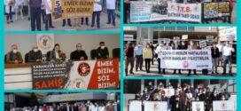TTB ve Tabip Odalarının Eylemleri Sürüyor: Her Yıla 120 Gün Yıpranma Payı ve COVID-19 Meslek Hastalığı Yasası İstiyoruz!